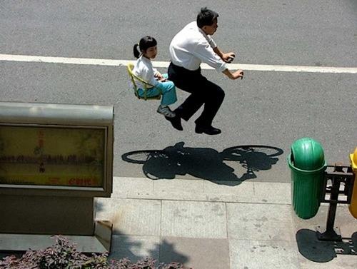 Floating Bike Photography by Zhao Huasen