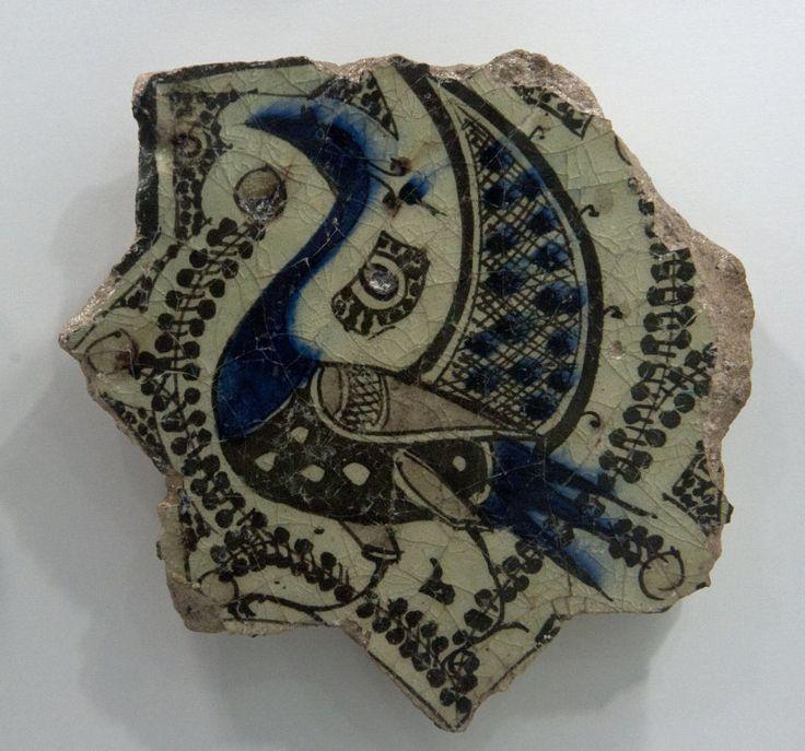 Seljuk ceramic tile, 12th-13th c.