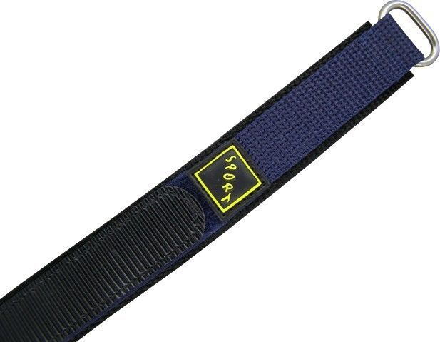 Wrist Watch Bands Nylon Hook And Loop Fastener Blue Black Touch Sport 0 3/5In