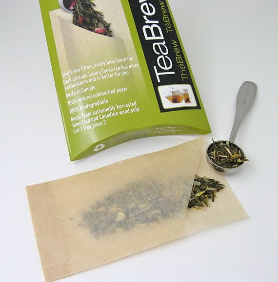 It's easy to make your own tea bags for brewing your favorite loose leaf tea. These filters are biodegradable, compostable, and sustainably harvested from American and Canadian wood pulp. $7.95