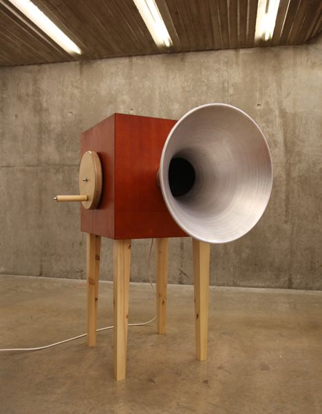 Sound machines that transform and distort visitors' voices feature in thisinteractive installation