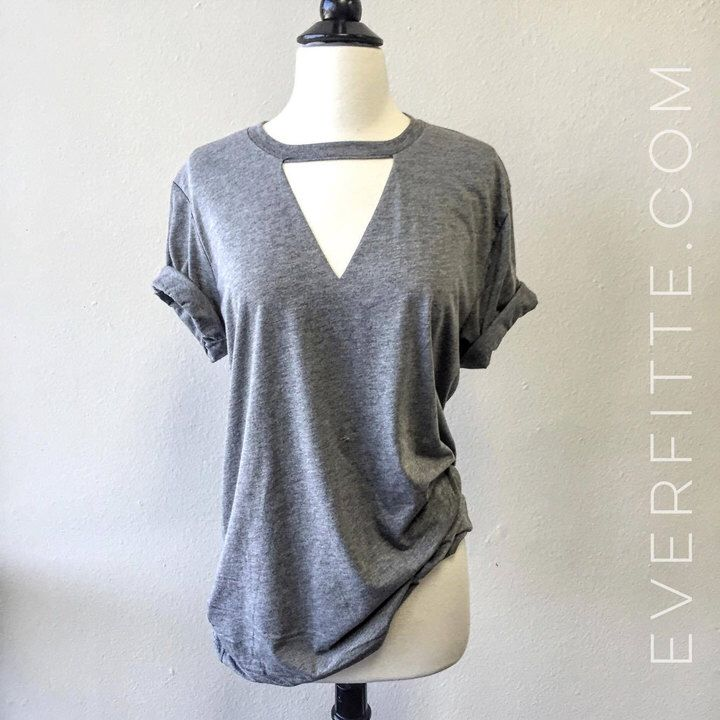 Etsy Raw V Cut-out Unbasic Tee, Graphic Tee, Triblend, Unisex, Basic Tee, T-Shirt, Workout Shirt, Gym Tee