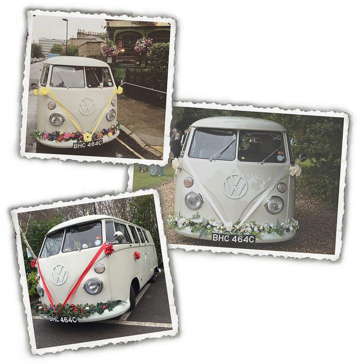 unique wedding car, unusual wedding car, vw wedding cars, campervan wedding hire