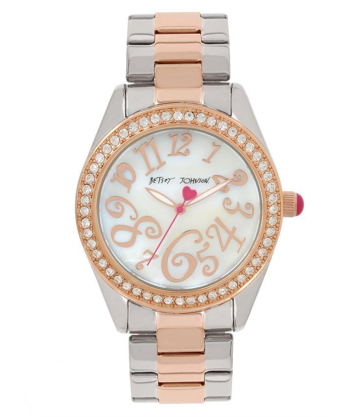 Betsey Johnson MotherofPearl Analog Bracelet Watch #Dillards