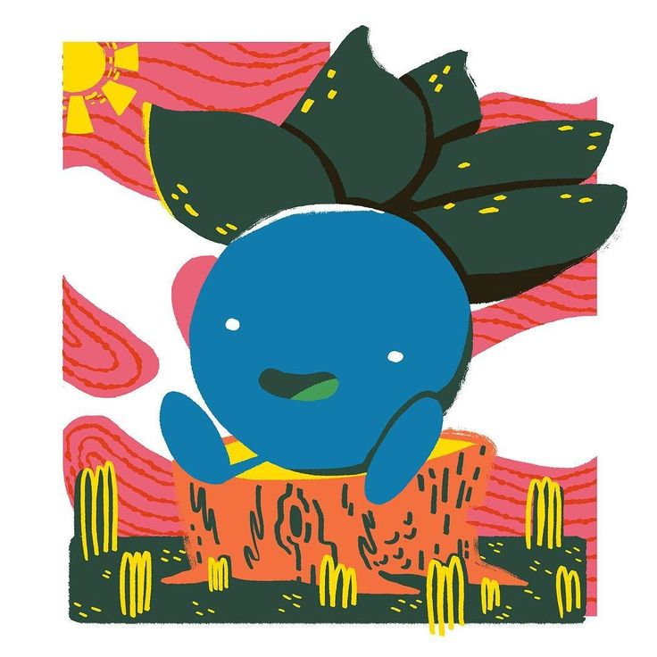 Oddish! It's hard to pick a favorite evolution line from the first generation of #Pokémon but this lil guys family is up there for me.  #illustration #drawing #art #fanart
