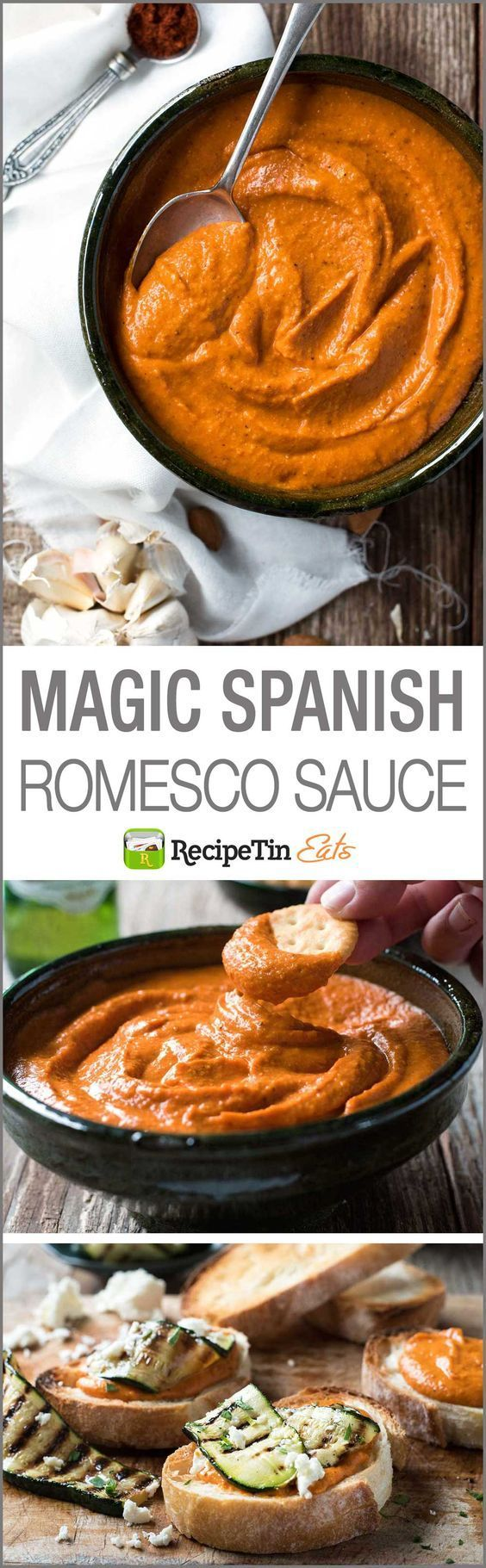 Magic Spanish Romesco Sauce – This miracle sauce is simple to make and fabulous to use as a dip sauce spread pesto as a marinade or even to flavour and thicken soups!