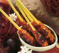 Brochettes balinaises, cuisine de Bali