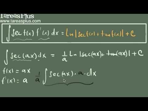 Integral de la función secante