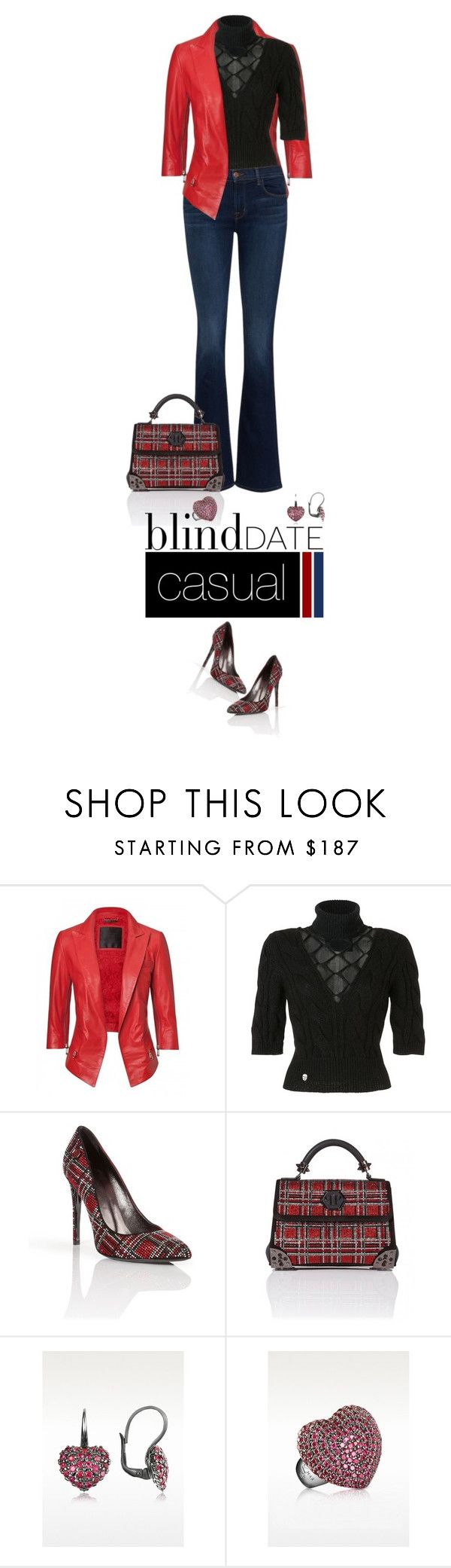 """""""Casual outfit: Red - Denim - Black"""" by downtownblues ❤ liked on Polyvore featuring Mode, women's clothing, women, female, woman, misses und juniors"""