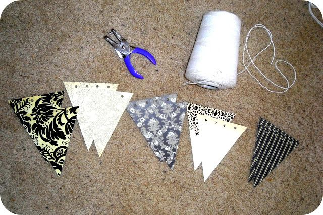 Artsy Fartsy Shopaholic: Tutorial: How to make a no-sew paper flag pennant banner