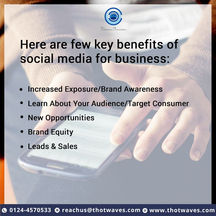 Here are few key benefits of social media for business. #ThotwavesInnovations #SocialMediaOptimization #ServiceBenefits  https://goo.gl/ZBg6uR