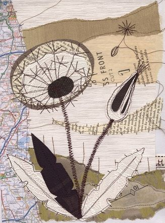 Textile Art by Anne Brooke- mixed media machine embroidery