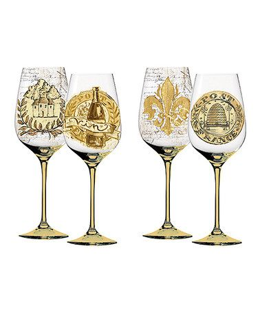 Look what I found on #zulily! Elegant Farmhouse Wineglass - Set of Two #zulilyfinds
