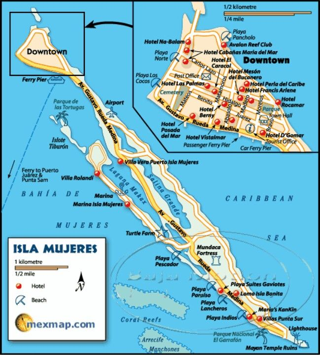 Detailed Isla Mexico Maps Hotels Map Hotel Pictures And Resorts