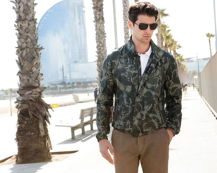 Fay City Diaries: an endless adventure in Barcelona. Men's Spring - Summer 2014 Bomber Jacket.