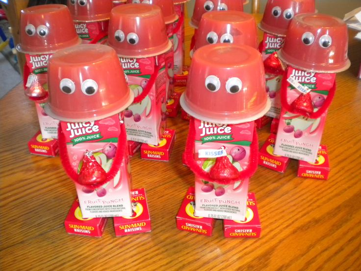 valentine day juice boxes