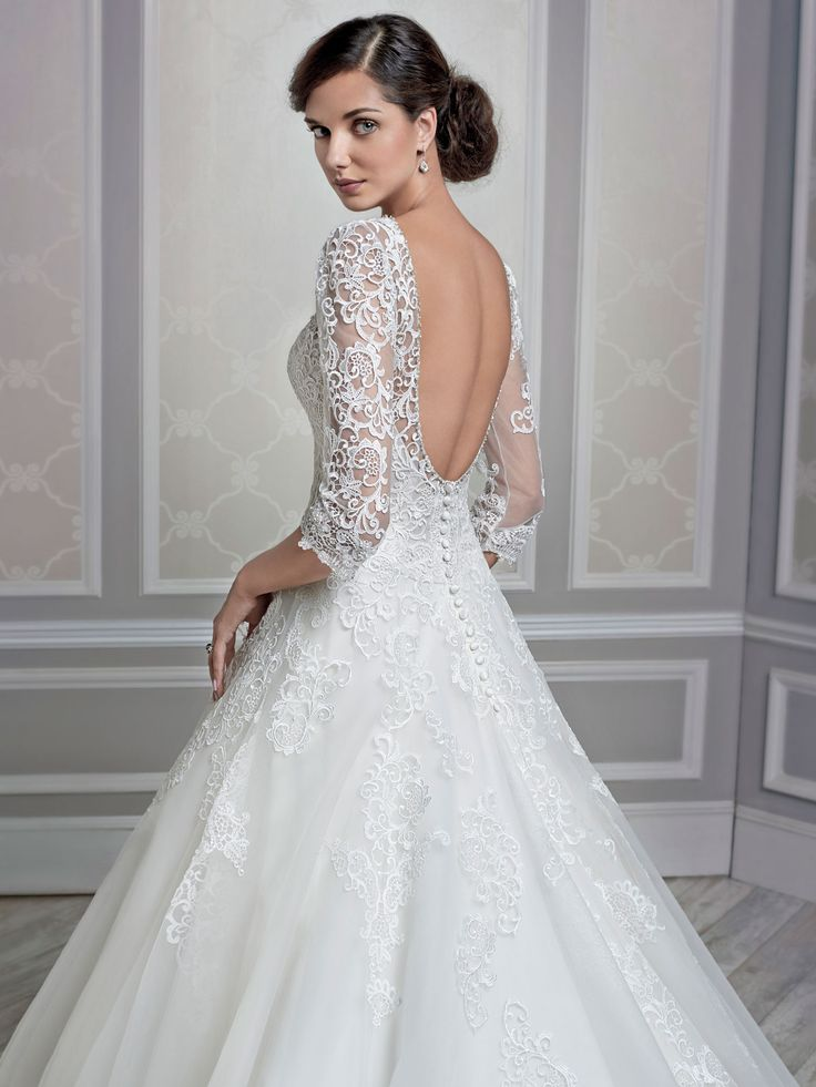 Style * 1604 * » Bridal Gowns, Wedding Dresses » Kenneth Winston 2015 Collection » by Kenneth Winston (Private Label By G) » Available Colours: Cafe/Ivory, Ivory/Ivory, White/White (close up)