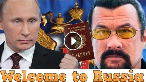 Стивен Сигал стал гражданином России, Путин вручил ему российский паспорт лично!: Стивен Сигал стал гражданином России, Путин вручил ему…
