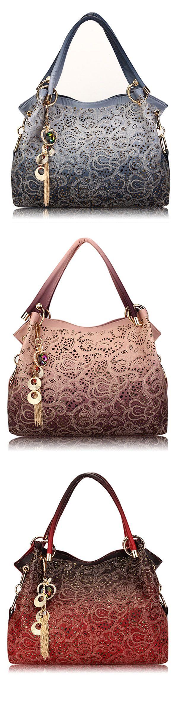 US$24.46 Women Vinage Hollow Out Pendant Shoulder Bags_ Elegant Retro Handbags