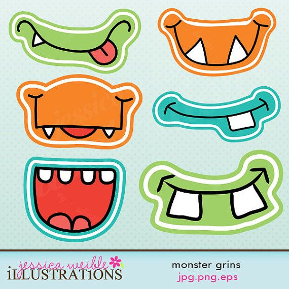 Monster Grins Cute Printable Birthday Party Favors