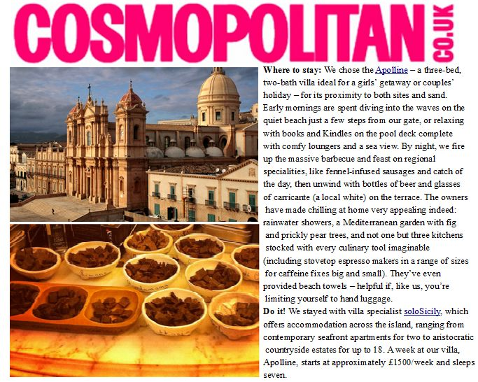 Once again, Apolline on Cosmo :)
