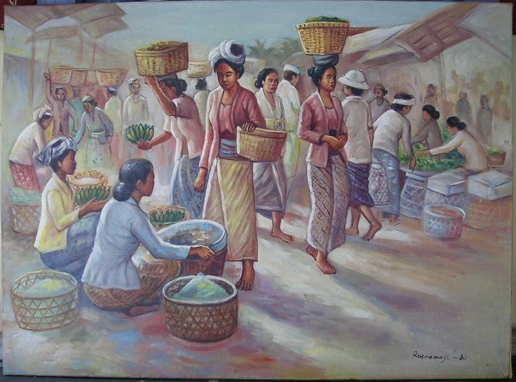 PASAR TRADISIONAL  - oil on canvas - 50 x 70 cm -
