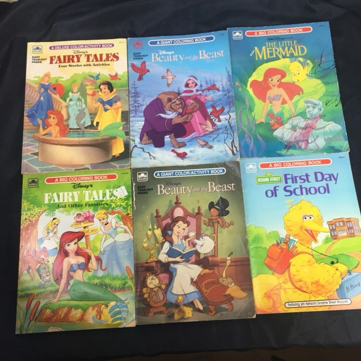 6 Coloring Books In Used Condition Percentages Are Approximate I Just Flipped Through And Took My Best Guess Disney Fairy Tales 5511 3 50ish Pages Not