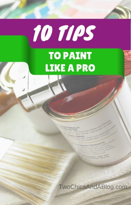 10 Tips to Paint Like a Pro. How to paint your house like a professional painter.