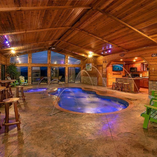 Vacation Cabin In Pigeon Forge Indoor Pool Design Indoor Pool Indoor Swimming Pools