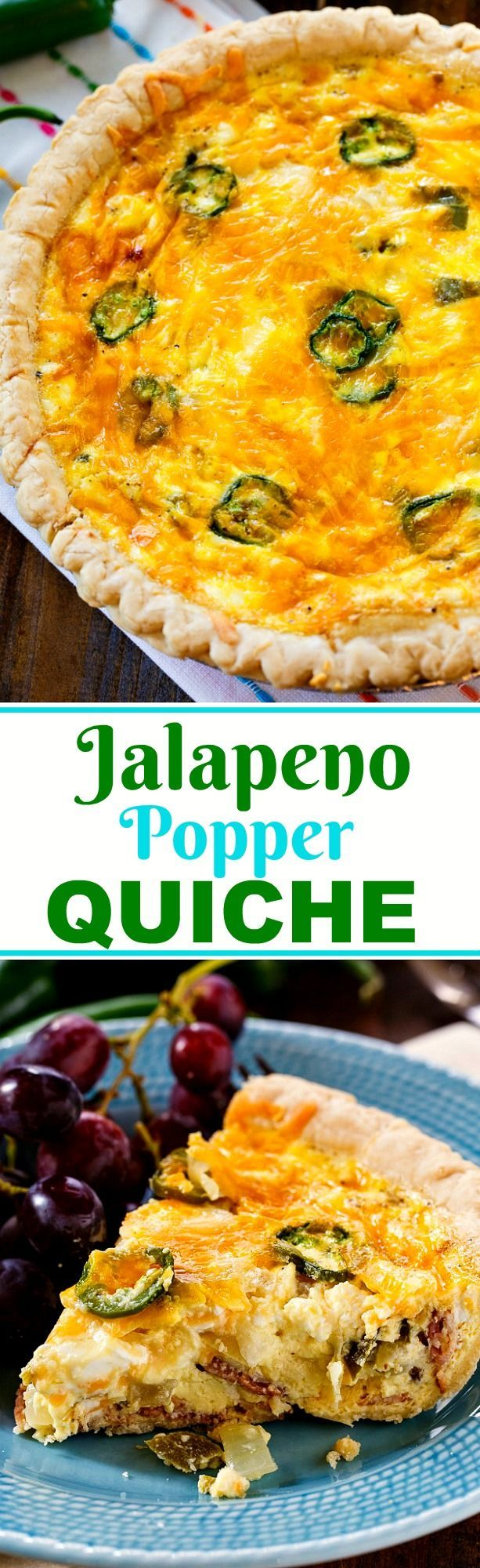 Jalapeno Popper Quiche | Recipe | Jalapeno poppers and Quiches