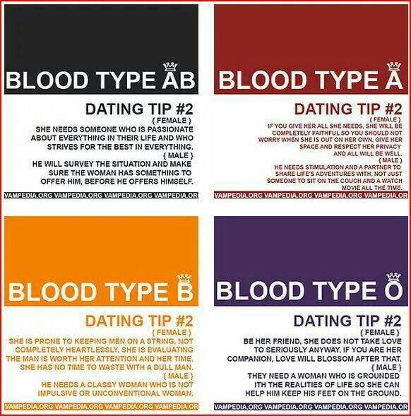 most common blood type for white males dating