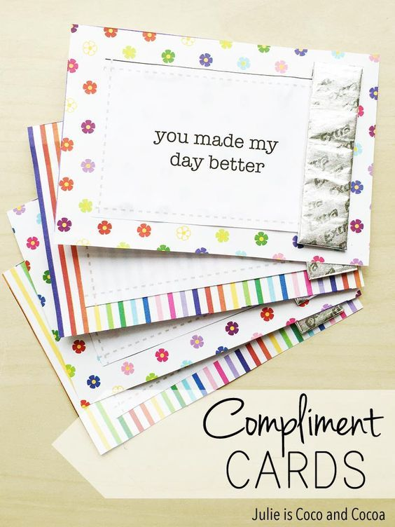 DIY Compliment Cards | FREE Printables | Motivational ...