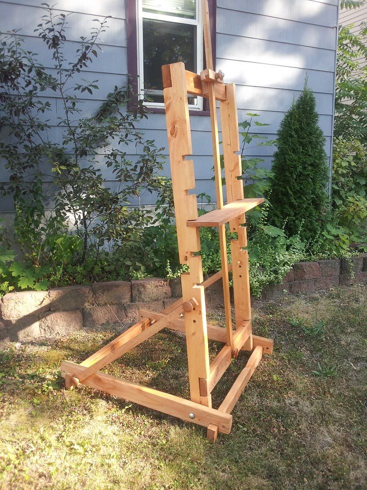 DIY Painting Easel! Made it and it works amazingly!