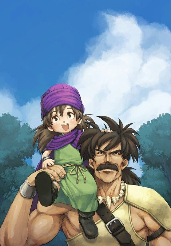Dragon Quest V - Pankraz and his son, Abel