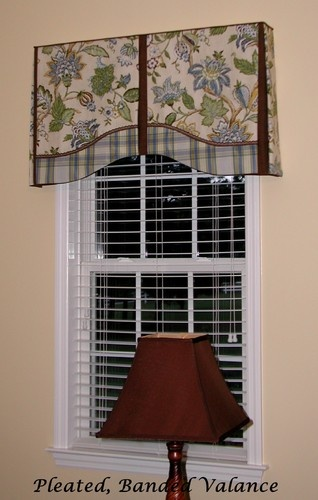 Board mounted valances eclectic family room