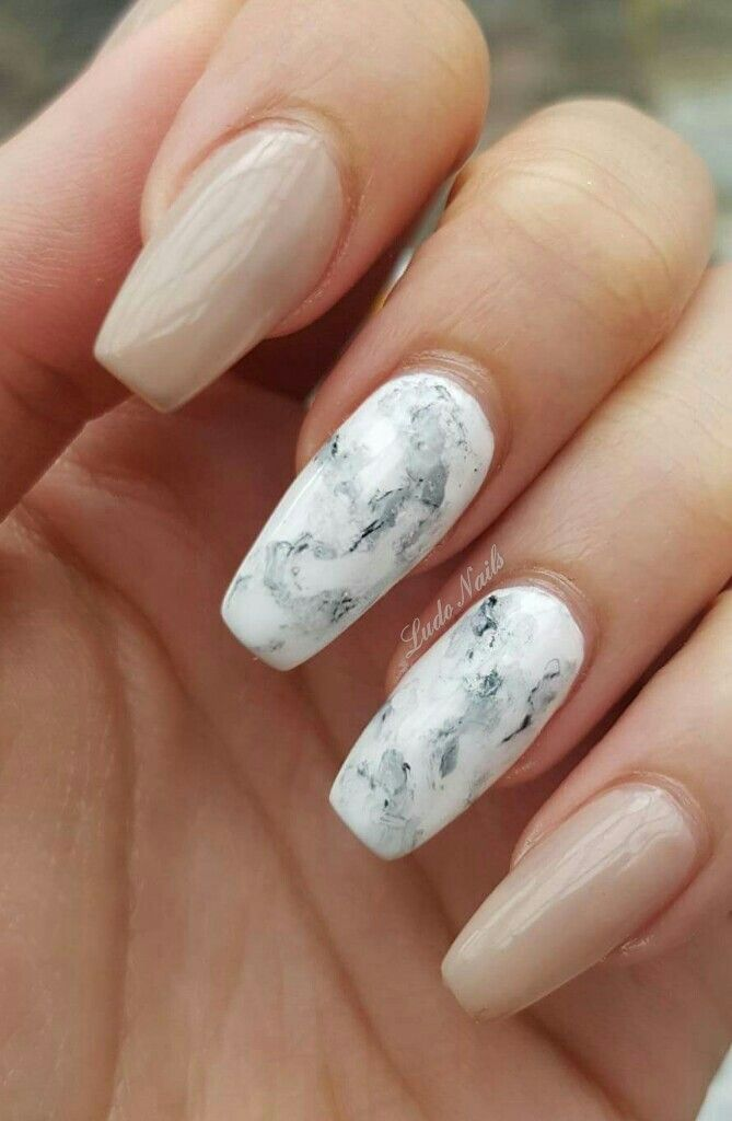 Coffin Marble Nails