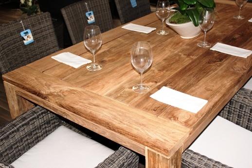Reclaimed Teak Dining Table 220 coastal design
