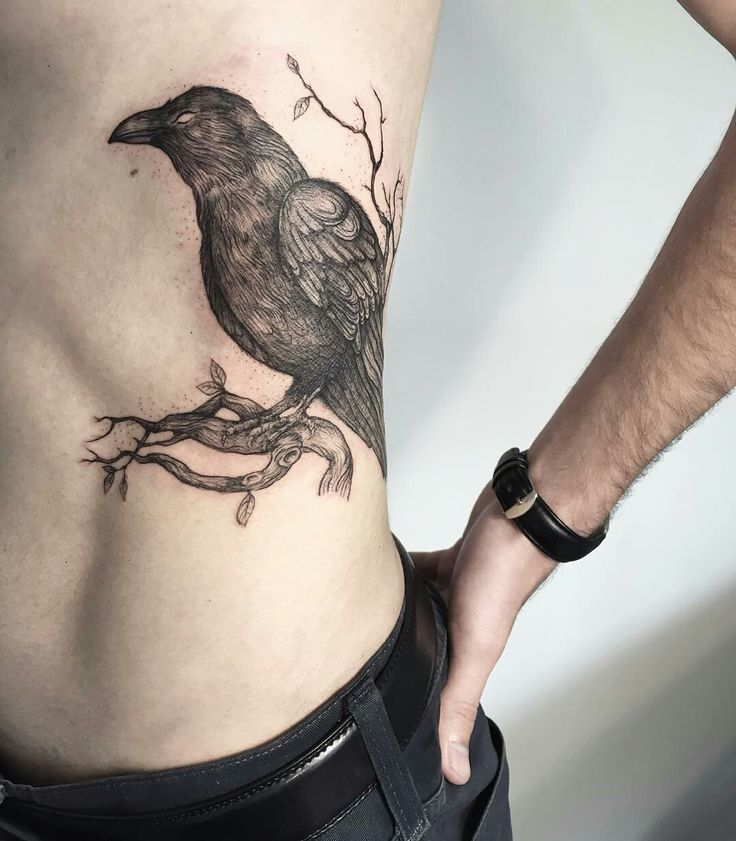 Tattoo done by: @lesyale_ #raven #tattoo #cuervo