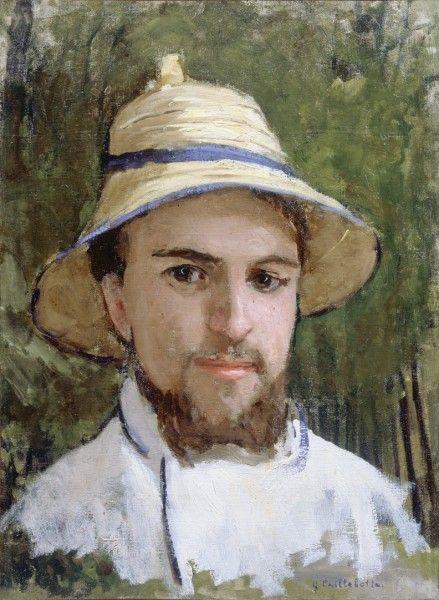 Gustave Caillebotte, Autoportrait au chapeau d'été, 1873, huile sur toile, 44 x 33 Collection privée © Comité Caillebotte, Paris