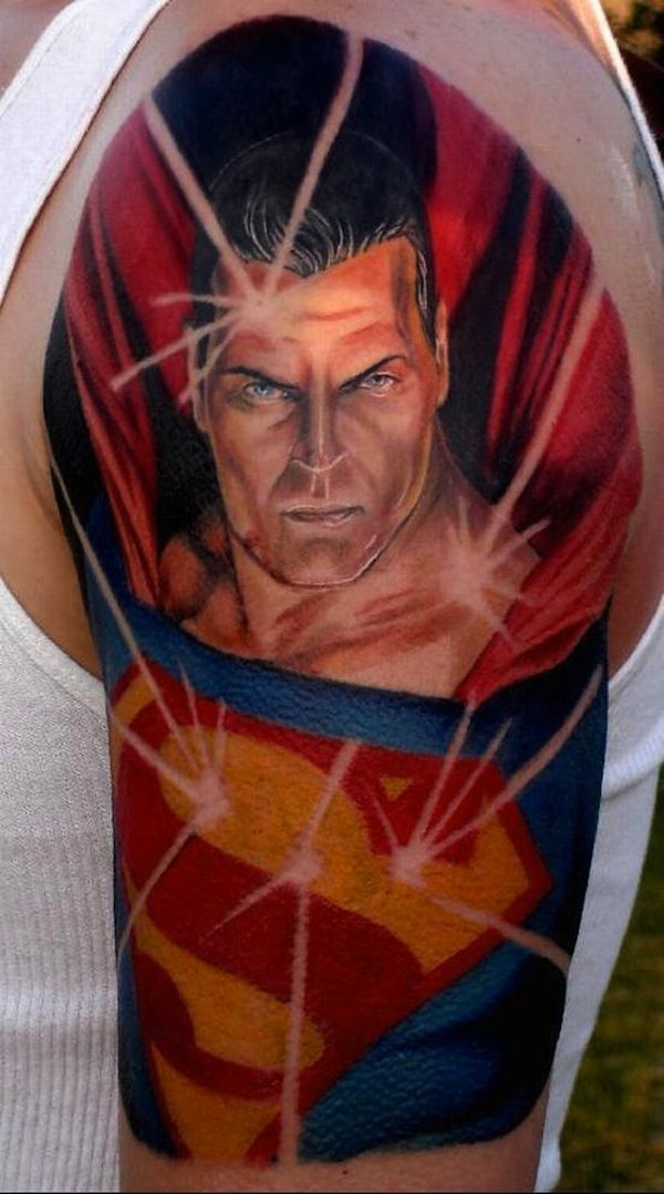 Superman Tattoos for Men | Comic Book Tattoos for Men ...