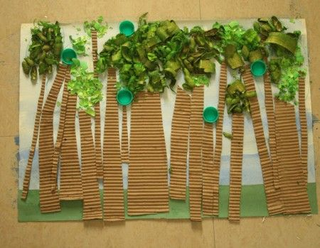 kindergarten recycle art | Mixed Media Earth Day Print | MPM School Supplies Blog