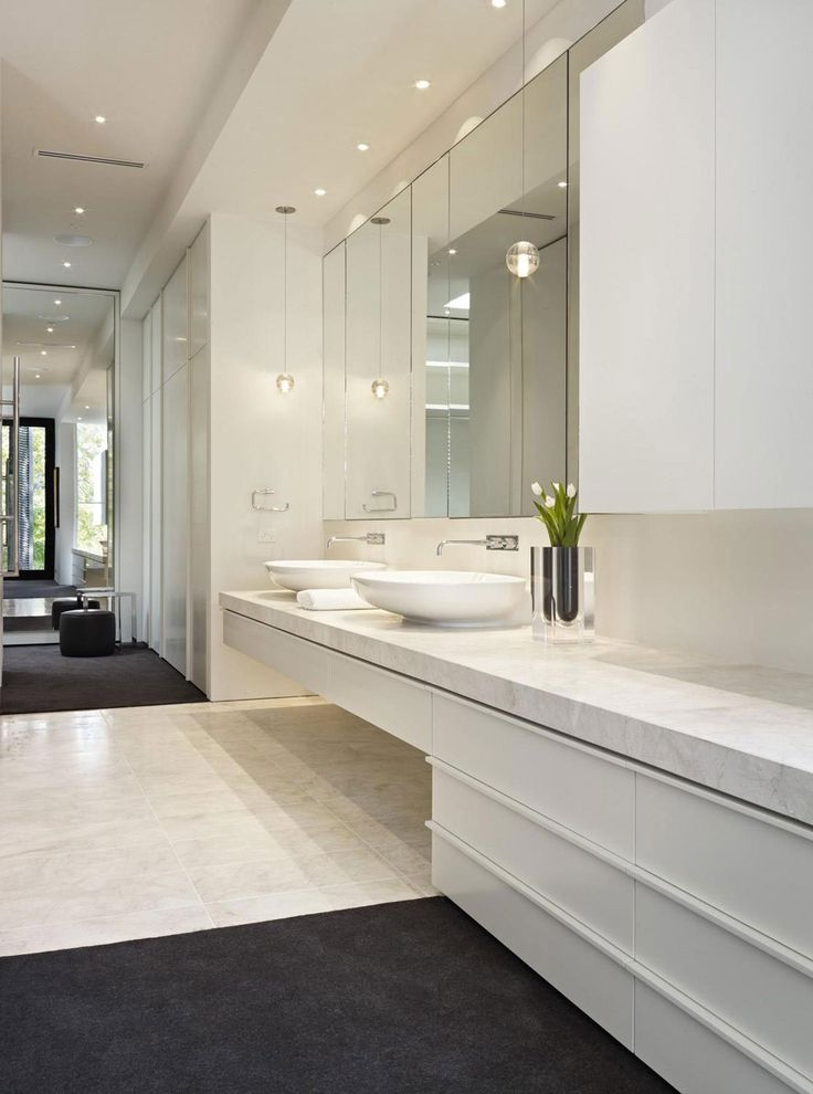 Photography Gallery Sites Bathroom Sinks Verdant Avenue Home in Melbourne Australia by Robert Mills Architects