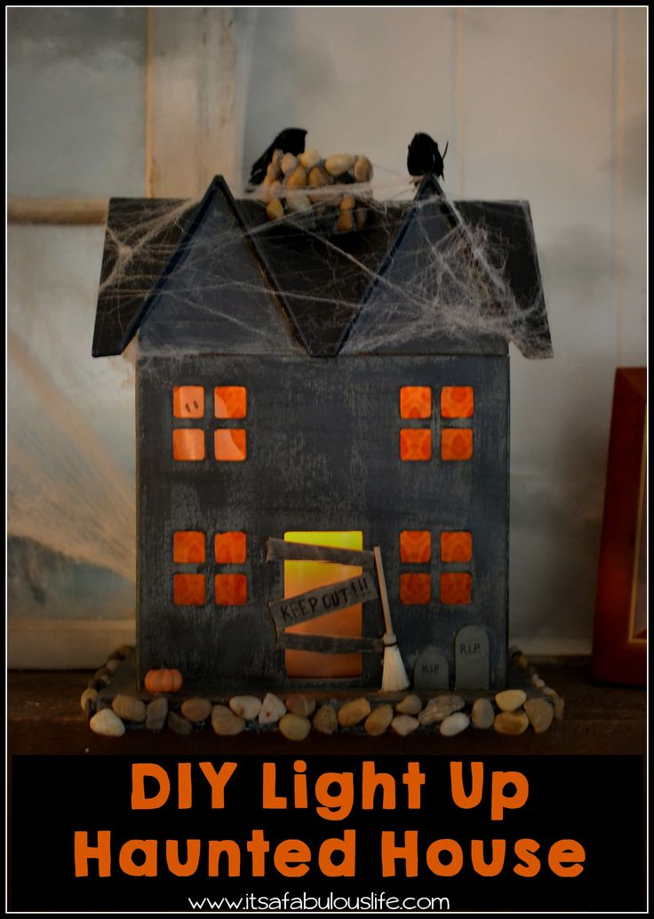Diy light up haunted house easy and fun halloween craft for Good themes for a haunted house