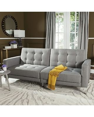 Safavieh Safavieh Soho Two In One Foldable Grey Loveseat Sofa Bed  (LVS2000B), Size Twin (Foam) From Overstock