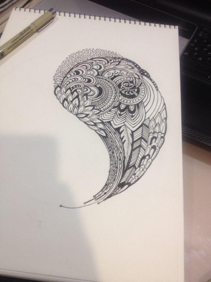 Zentangle, abstract pattern, hand-drawing
