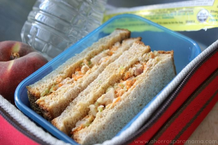 My healthy tuna sandwich with (almost) invisible carrots and celery - great for the lunchbox!