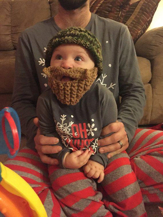 NB Long Beard Camouflage baby bearded hat knit baby hats crochet hat  lumberjack photo prop cr…  19848002efa