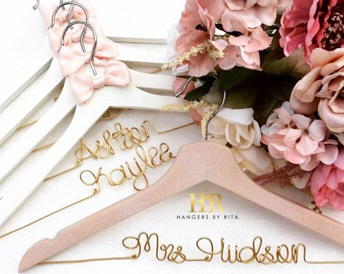 faf26becd6cc Custom Bridal Hanger - WeddingVibe Wedding Giveaways By: Hangers By Rita  Draw Date: 12-21-18 A lucky bride will have a chance to win a custom hanger  for her ...