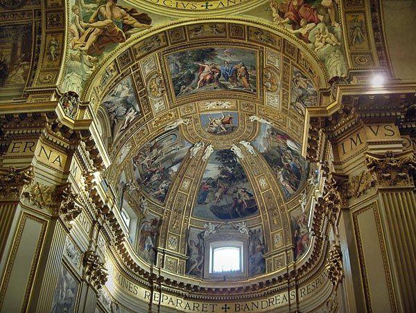 DOMENICHINO - storie di sant'andrea - 1620 ROMA, Sant'Andrea della Valle