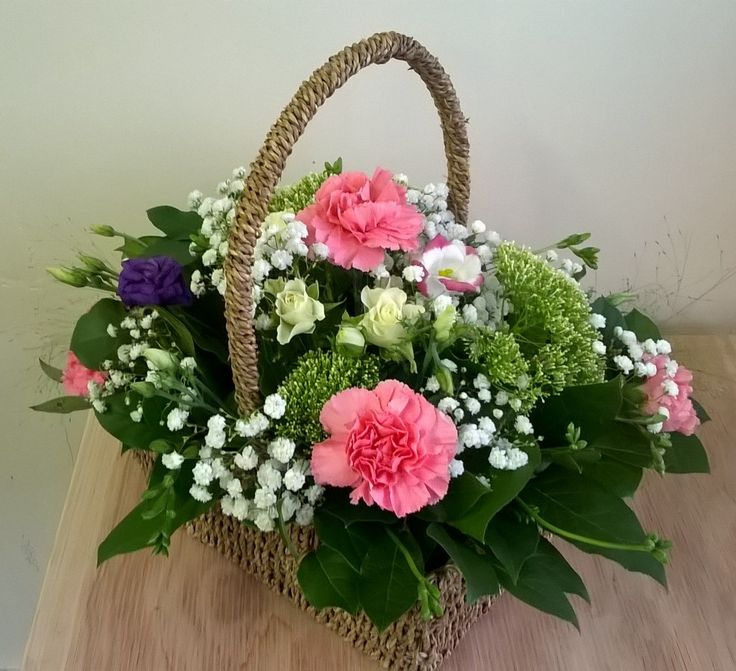 flower filled basket